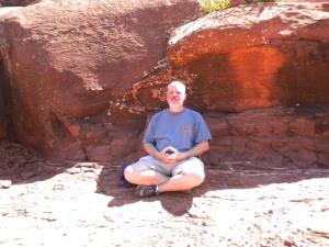 Meditating at Bell Rock Vortex