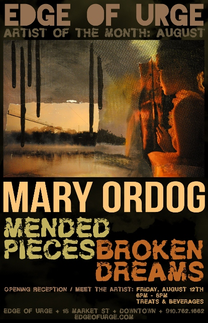 Mary Ordog art show mended pieces broken dreams