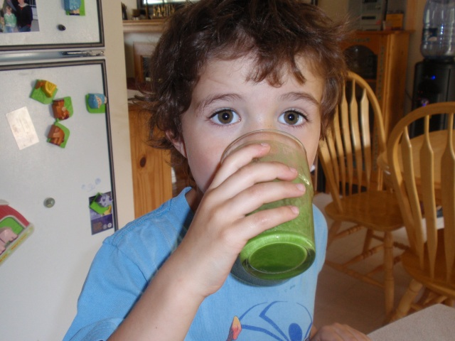 Mmmm drinking green smoothies - at the Prison Yoga Practice