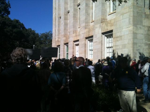 Occupy Raleigh - the angle from padmasana - hey yoga man
