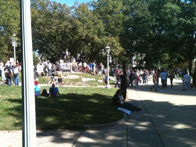 Occupy Raleigh - George Washington approves! - hey yoga man